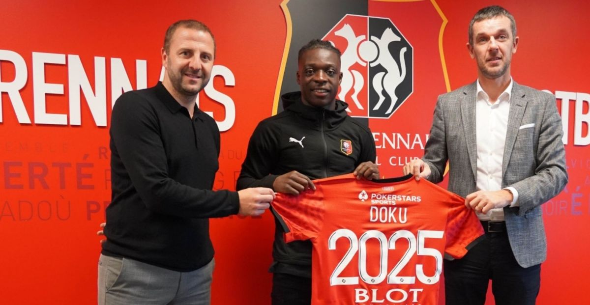 Jeremy Doku after joining Rennes