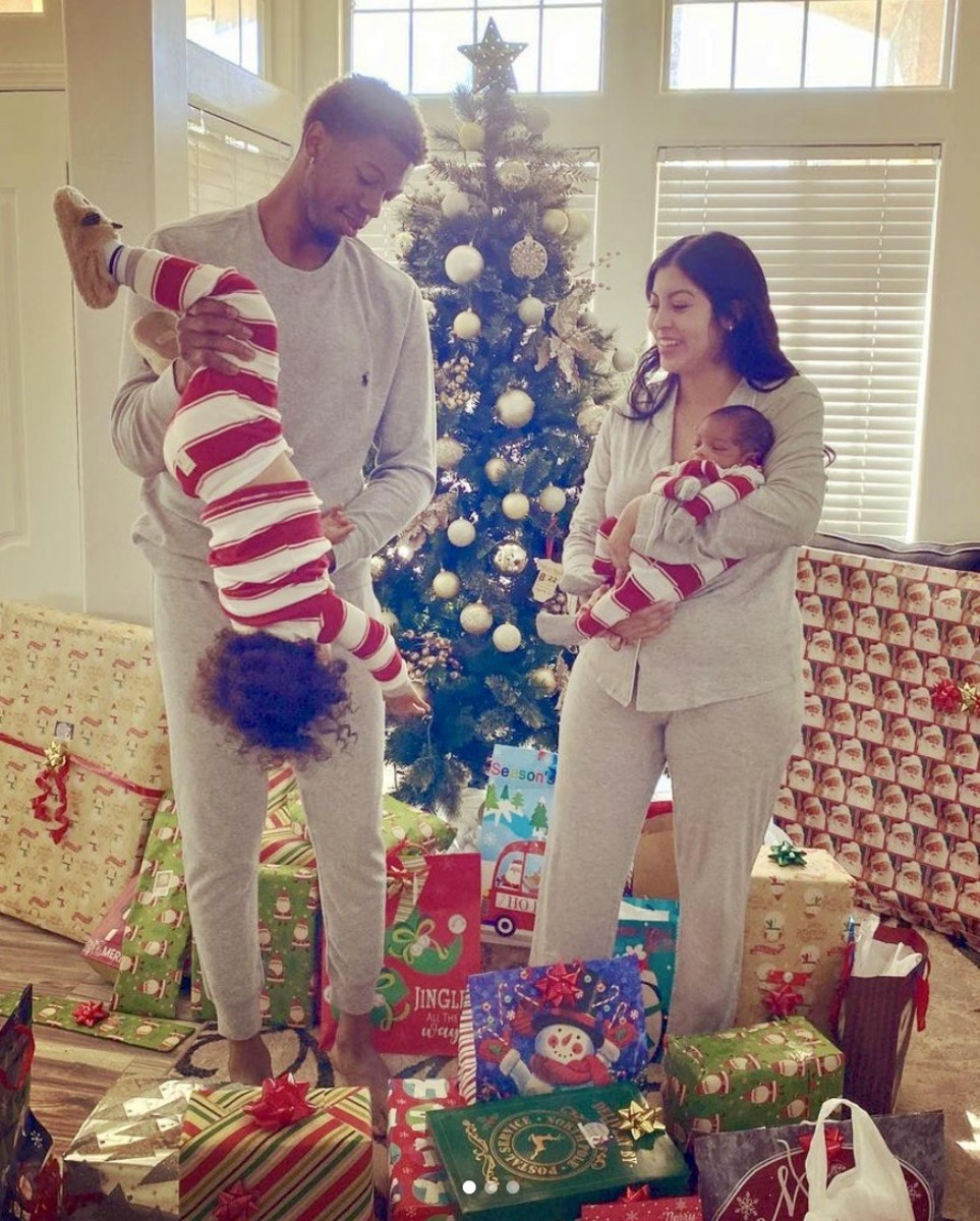 Tyrone Wallace and his family at Christmas