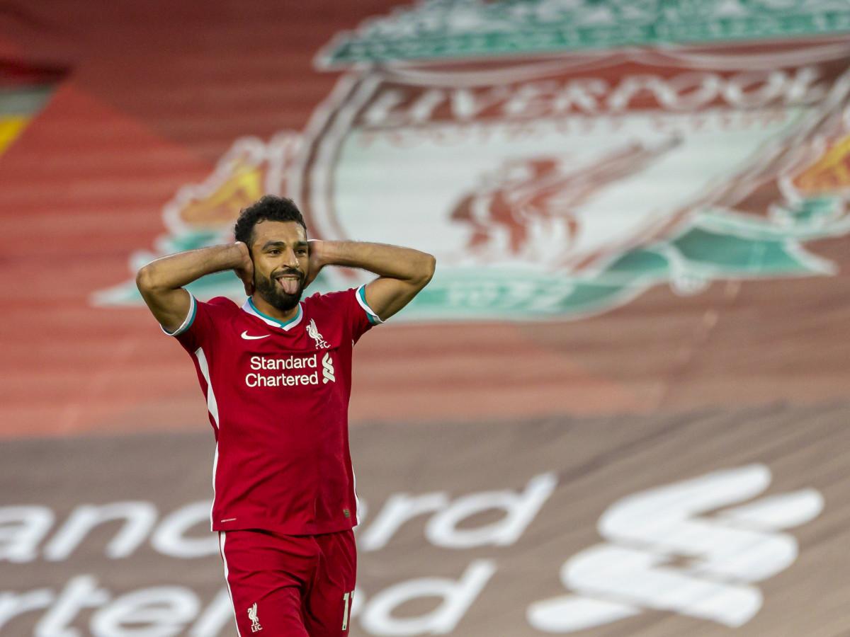 Salah after completing his hattrick against Leeds United
