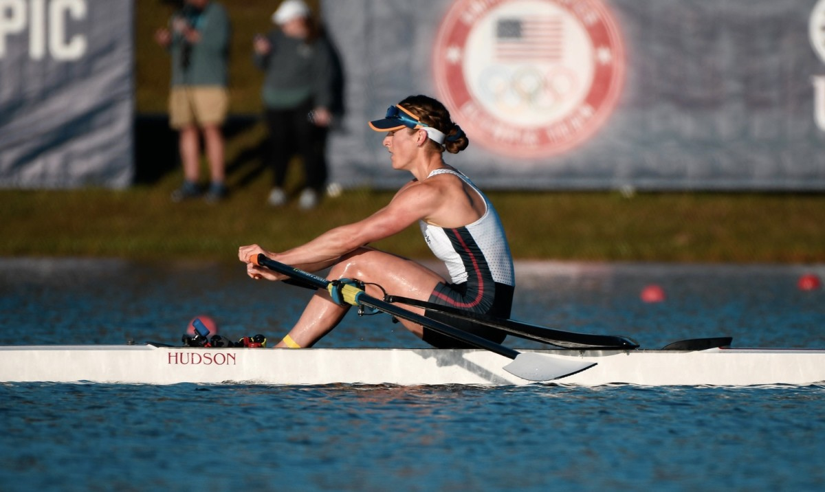 Kara Kohler races toward victory at the U.S. Olympic trials