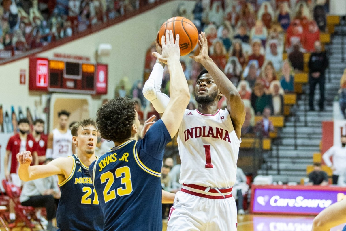 Al Durham had 15 points in his final game at Assembly Hall this season. (USA TODAY Sports)