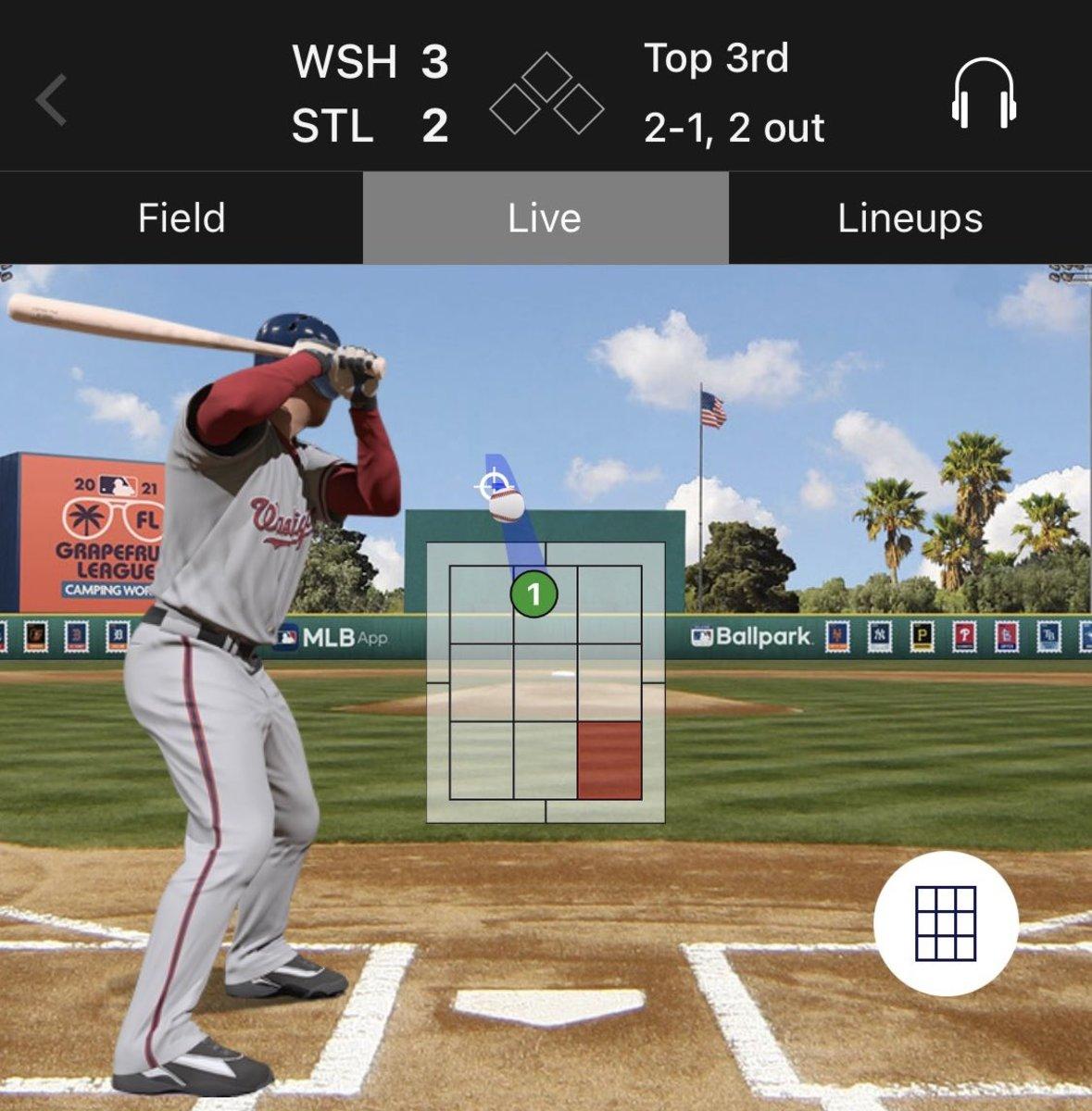 Screenshot from MLB Gameday