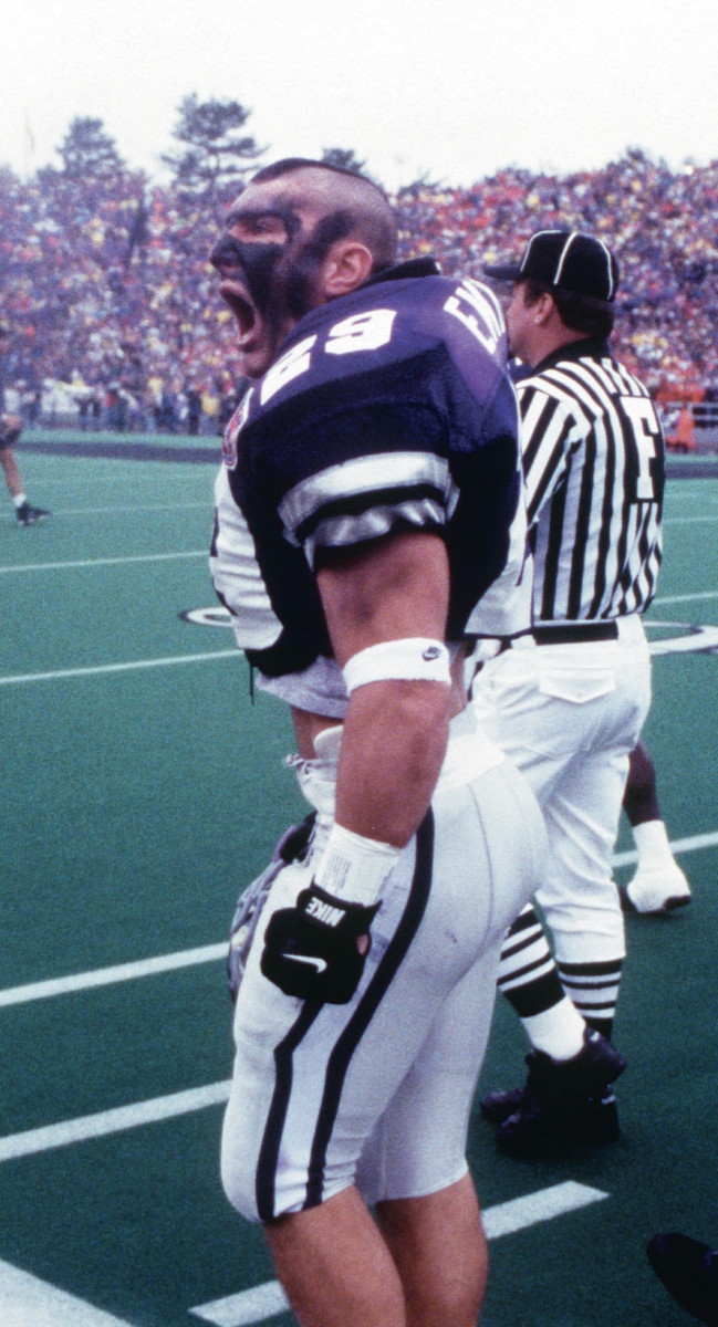 Mike Ekeler during his time as a player at Kansas State