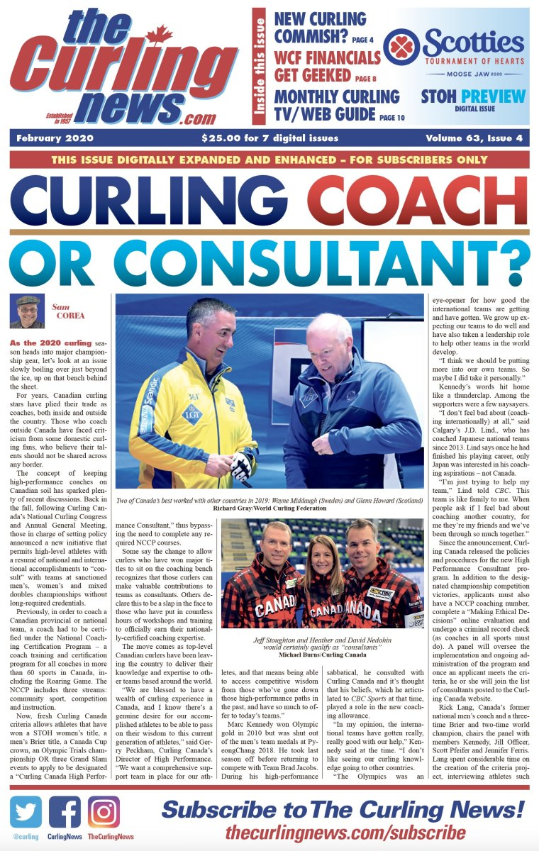 Glenn Howard also coached internationally, for a while