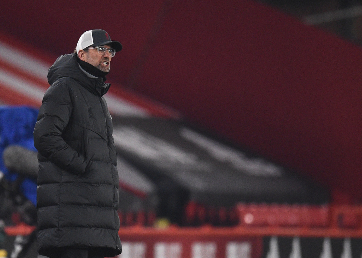 Jurgen Klopp during Liverpool's 2-0 win over Sheffield United