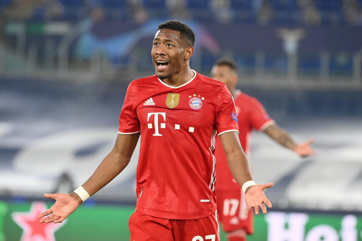 David Alaba in Champions League action