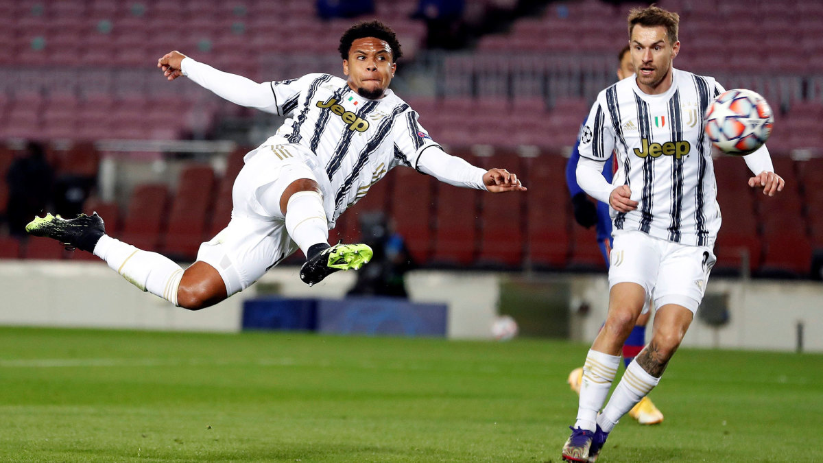 USA and Juventus star Weston McKennie scores vs. Barcelona