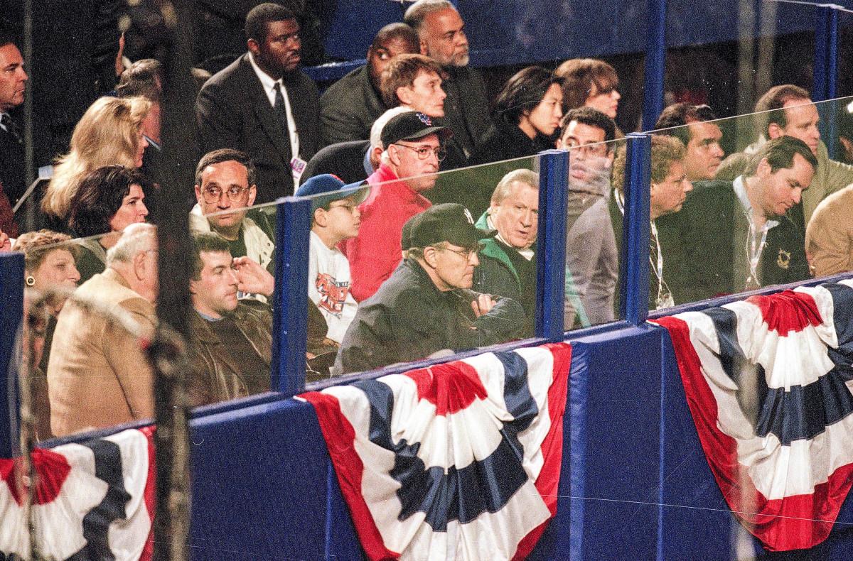Among the NYC superfans: then-mayor Rudy Giuliani.