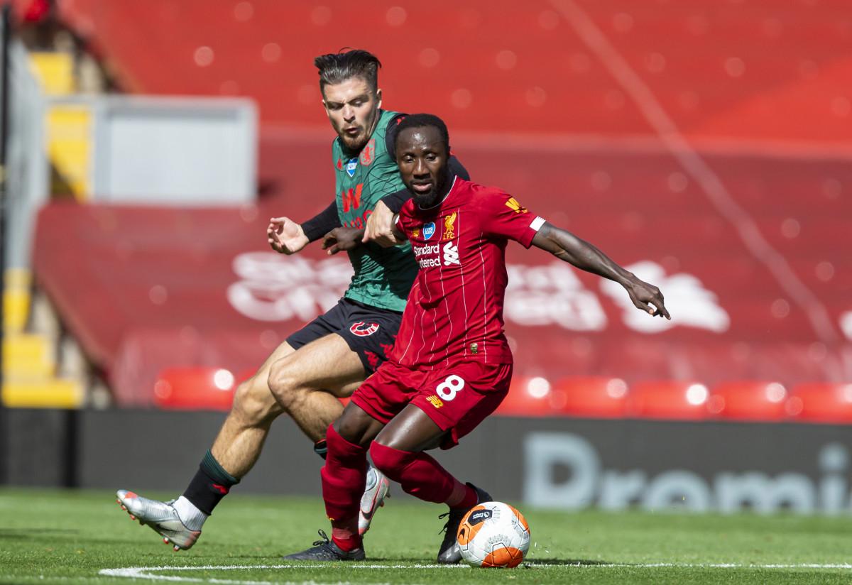 Naby Keita in action against Aston Villa