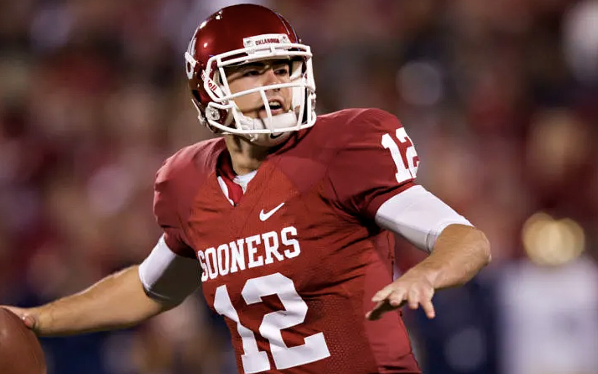 Landry Jones left Oklahoma with his name all over the record books as he's still OU's all-time leading passer with 16,646 yards.