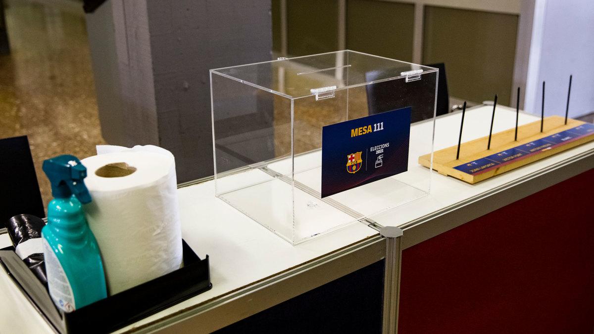 A ballot box for Barcelona's presidential elections
