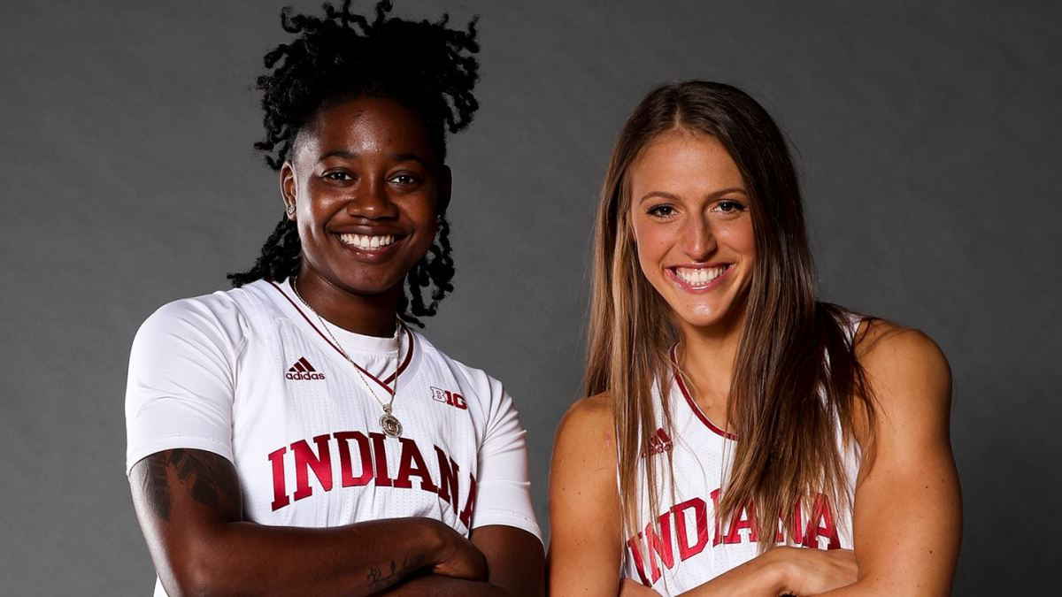 Keyanna Warthen and Ali Patberg pose for a picture together ahead of Senior Day this Saturday, March 6, against Purdue.