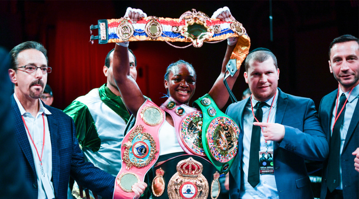 Claressa Shields is looking for all the boxing titles. And a payday to match.