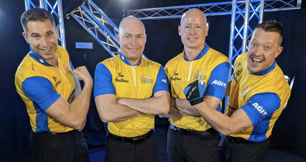 Kevin Koe, third from left, is gunning for Ferbey • TSN
