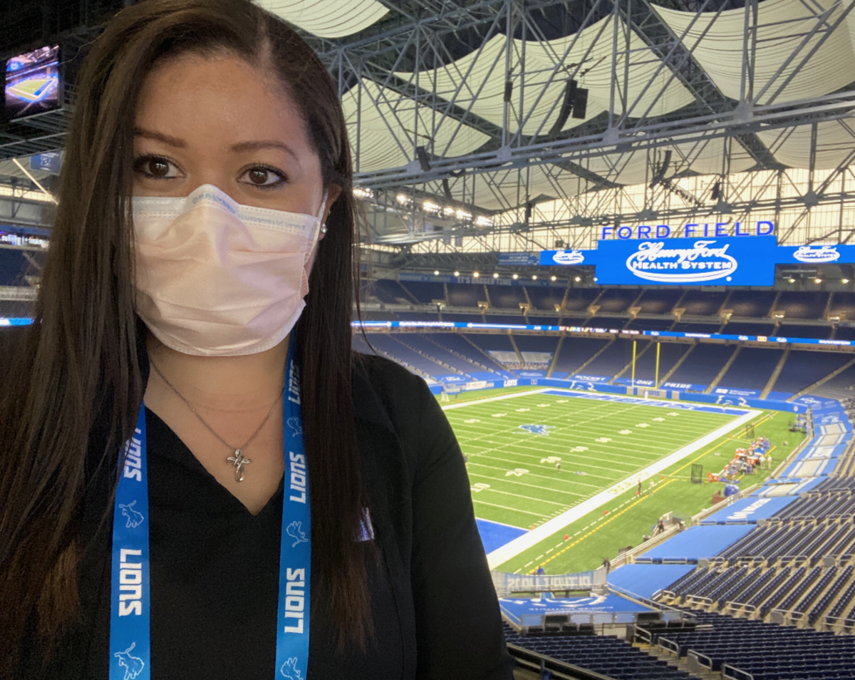 Detroit Lions Scouting Operations Manager Jessica Larmony