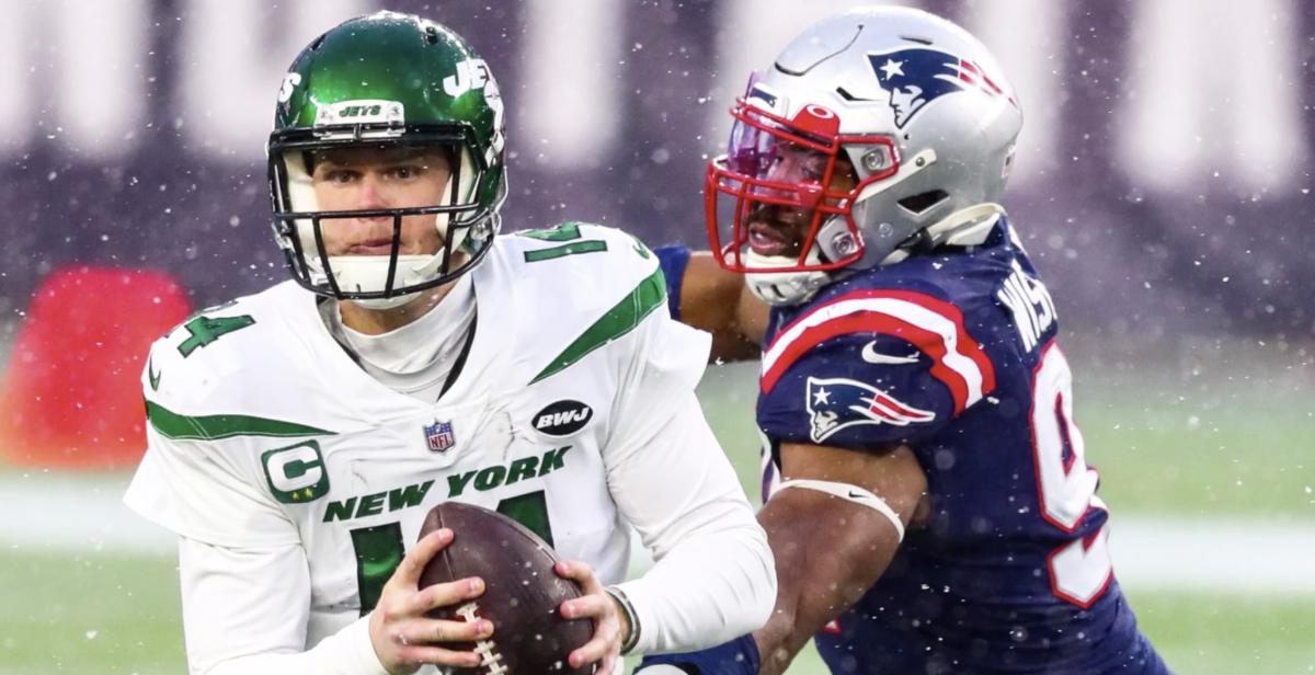 Jets QB Sam Darnold vs. New England Patriots