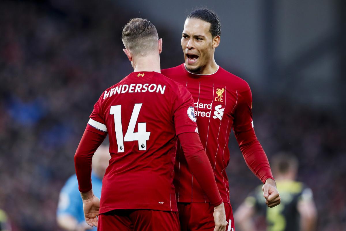 Jordan Henderson and Virgil van Dijk Liverpool players.