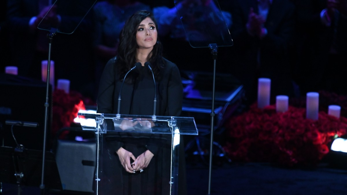 Vanessa Bryant reflects at the memorial for husband Kobe and daughter Gianna