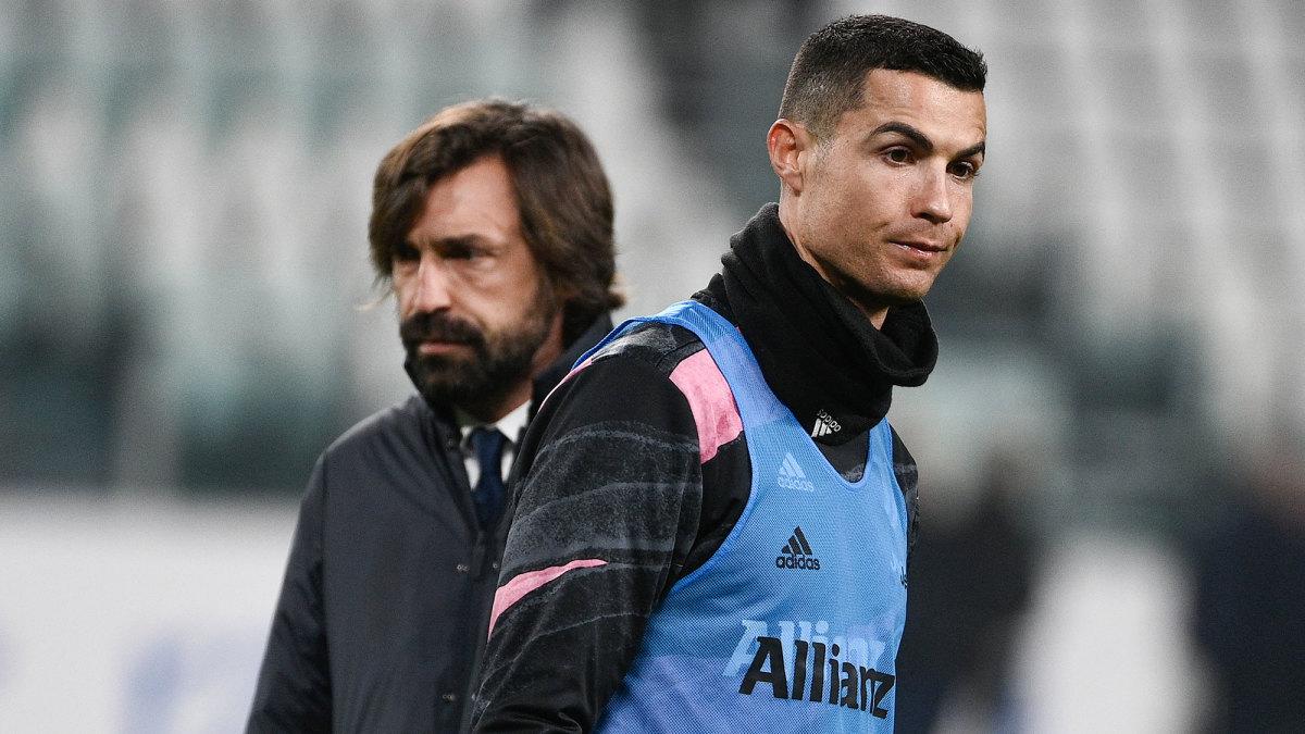 Juventus's Andrea Pirlo and Cristiano Ronaldo