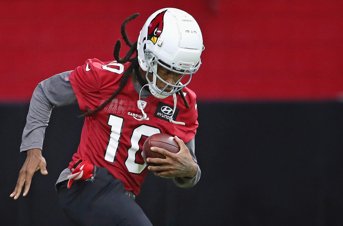 DeAndre Hopkins practices with the Cardinals soon after his trade to Arizona