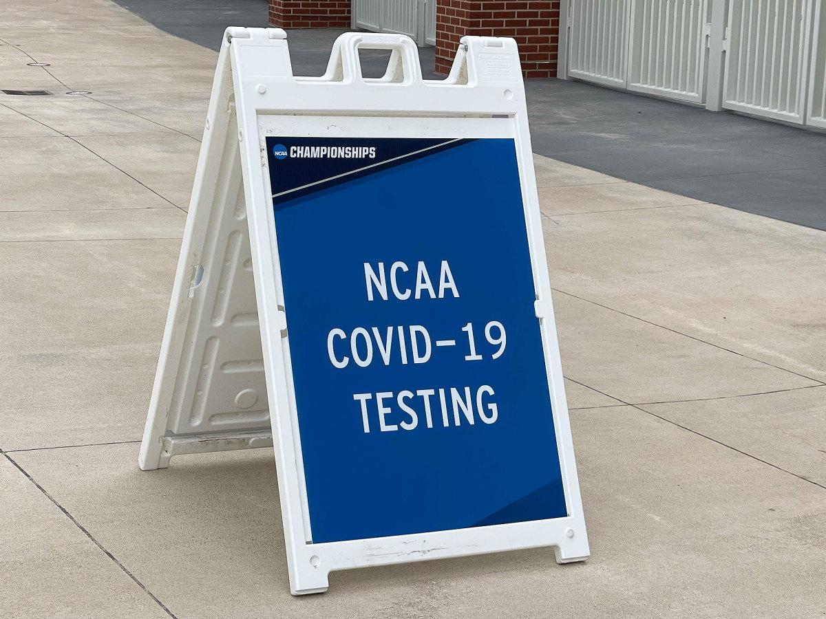 NCAA COVID-19 Testing sign
