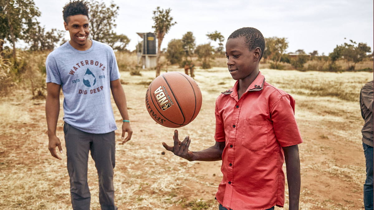Brogdon, who first visited Africa when he went to Ghana as a preteen, returned in 2018 as part of his work to help build drinking wells.