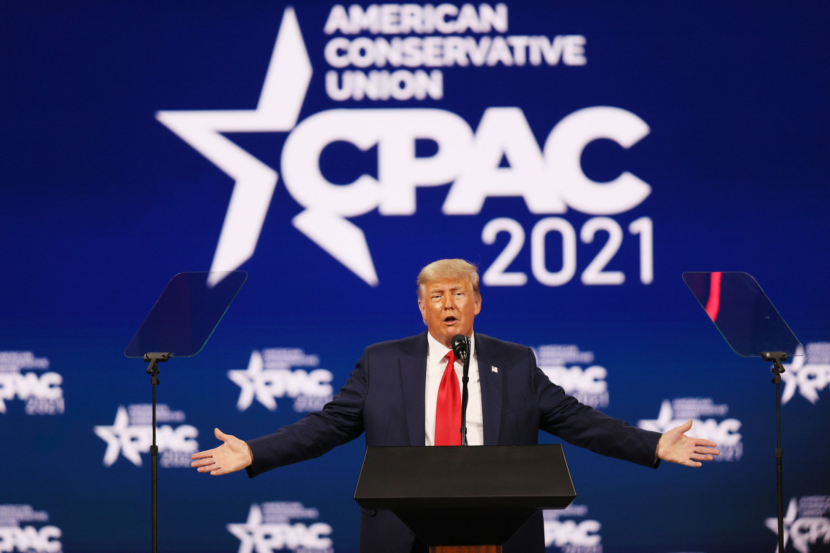 In a Feb. 28 speech at CPAC, Trump railed against trans participation in women's sports.