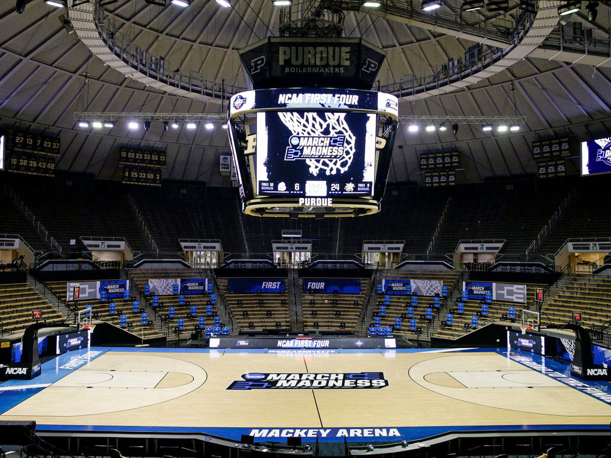 An empty Mackey Arena sits ready for March Madness