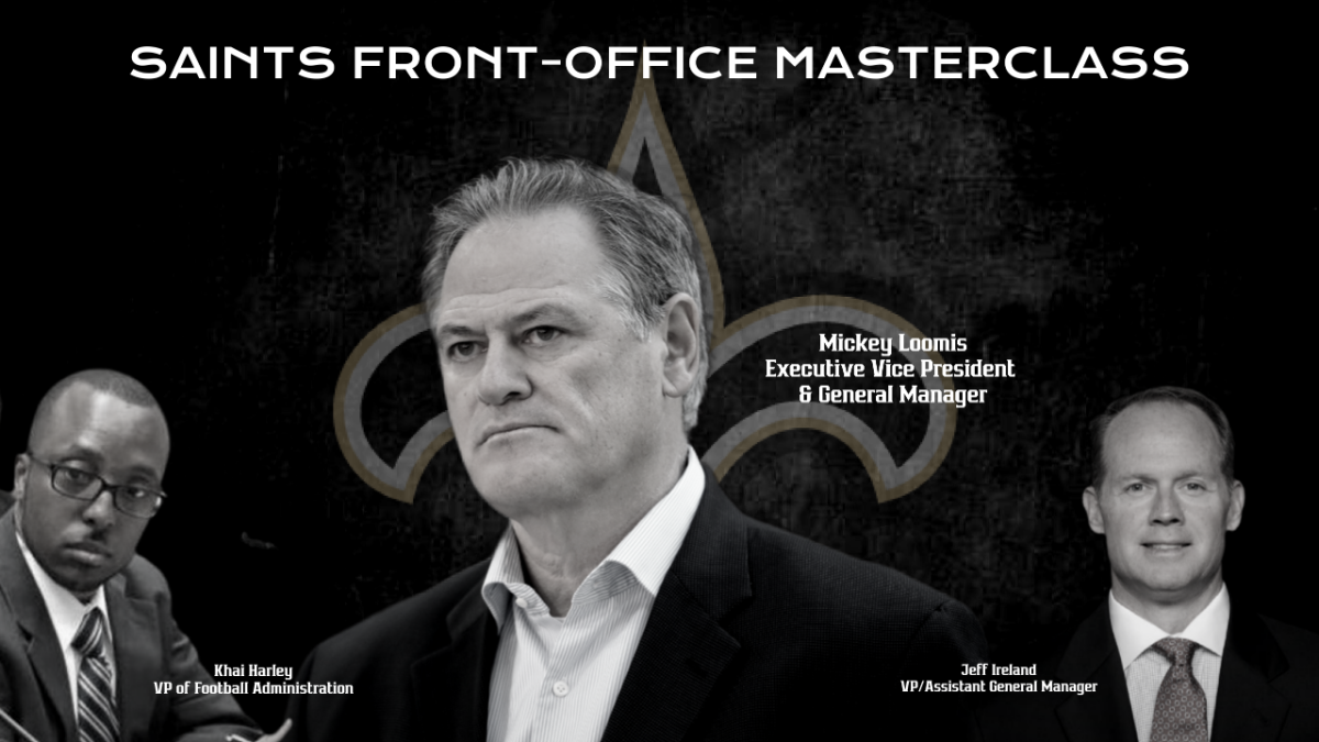 New Orleans Saints Front Office - Mickey Loomis, Khai Harley, Jeff Ireland