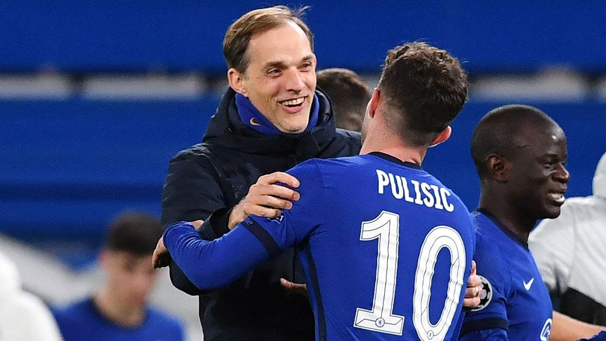 Chelsea's Thomas Tuchel and Christian Pulisic