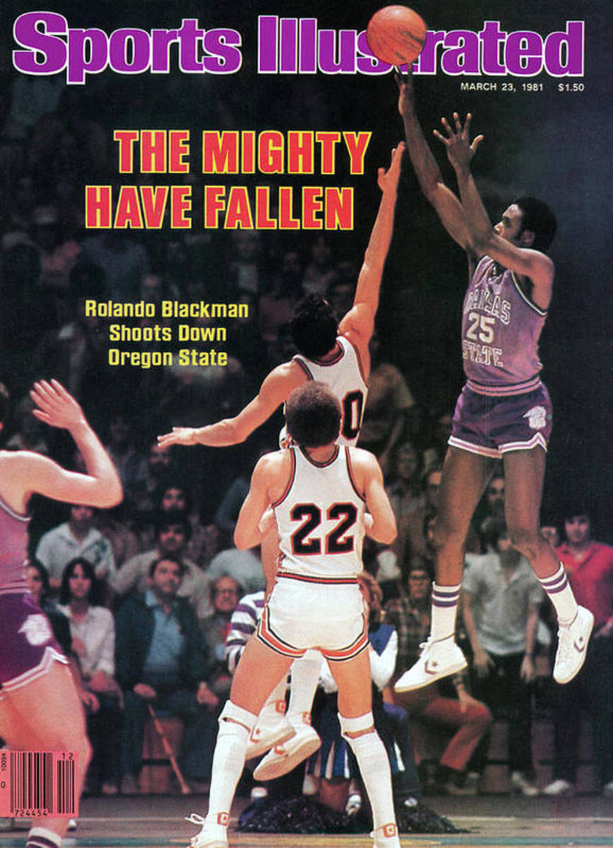 the-mighty-have-fallen-rolando-blackman-shoots-down-oregon-march-23-1981-sports-illustrated-cover