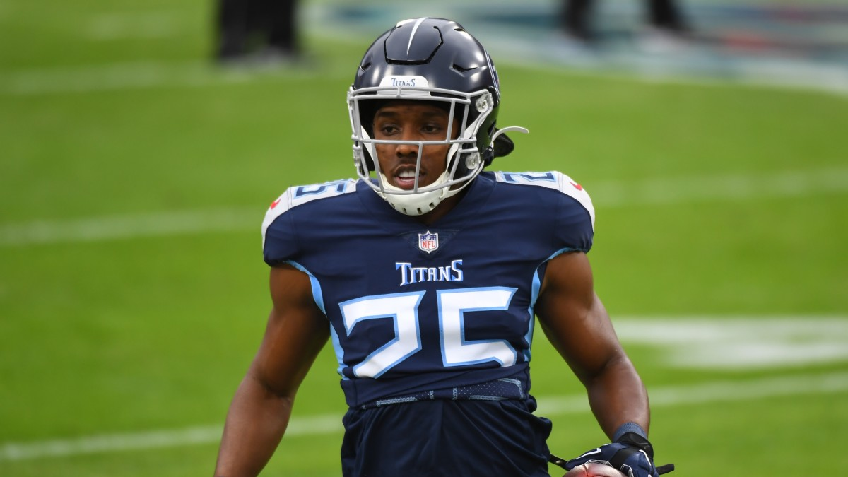 Adoree Jackson on the field during a Titans game