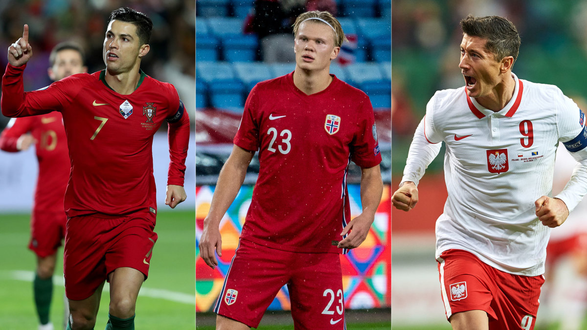Cristiano Ronaldo, Erling Haaland and Robert Lewandowski begin World Cup qualifying