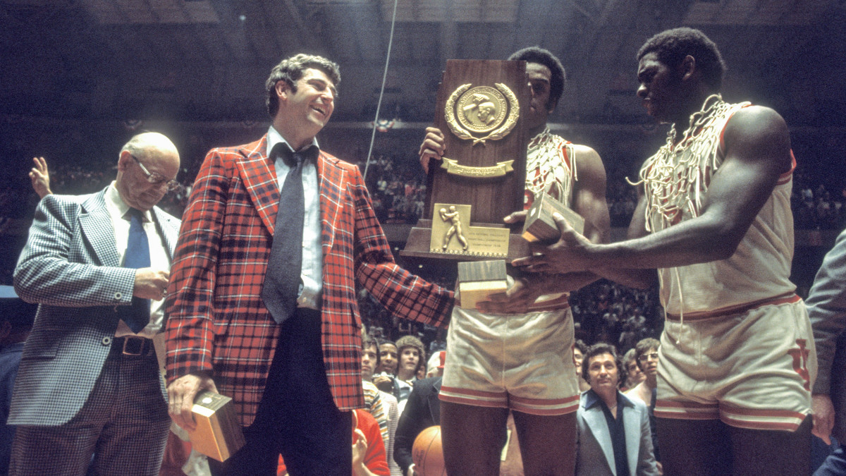 Bob Knight and Indiana after winning the 1976 national title