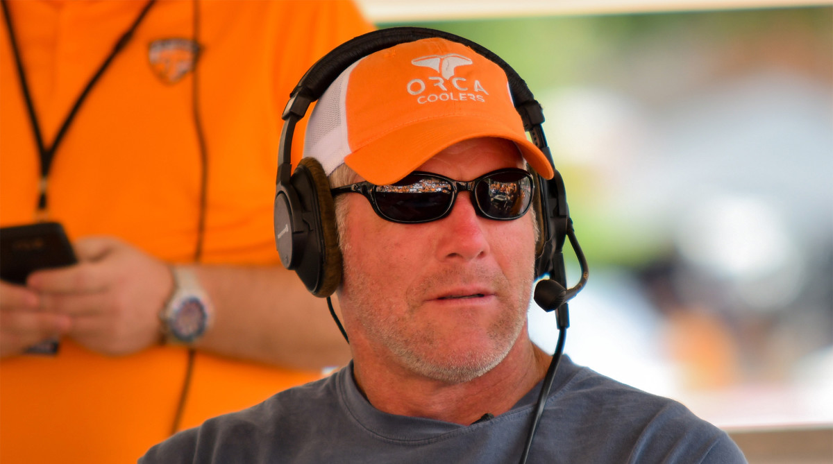 Sep 30, 2017; Knoxville, TN, USA; NFL Hall of Famer Brett Favre before the game between the Georgia Bulldogs and Tennessee Volunteers at Neyland Stadium.
