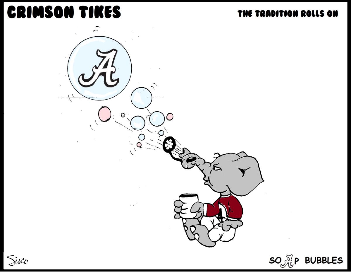 Crimson Tikes: Bama Soap Bubbles