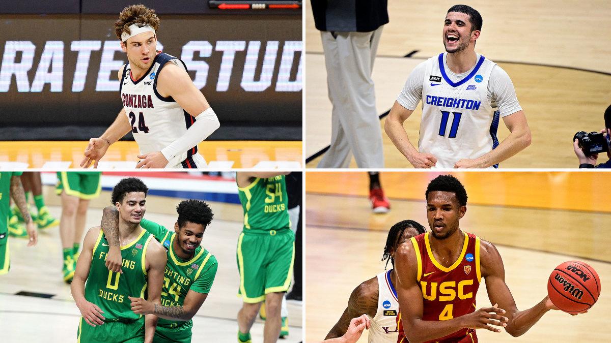 Gonzaga, Creighton, USC and Oregon make up the remaining West Region