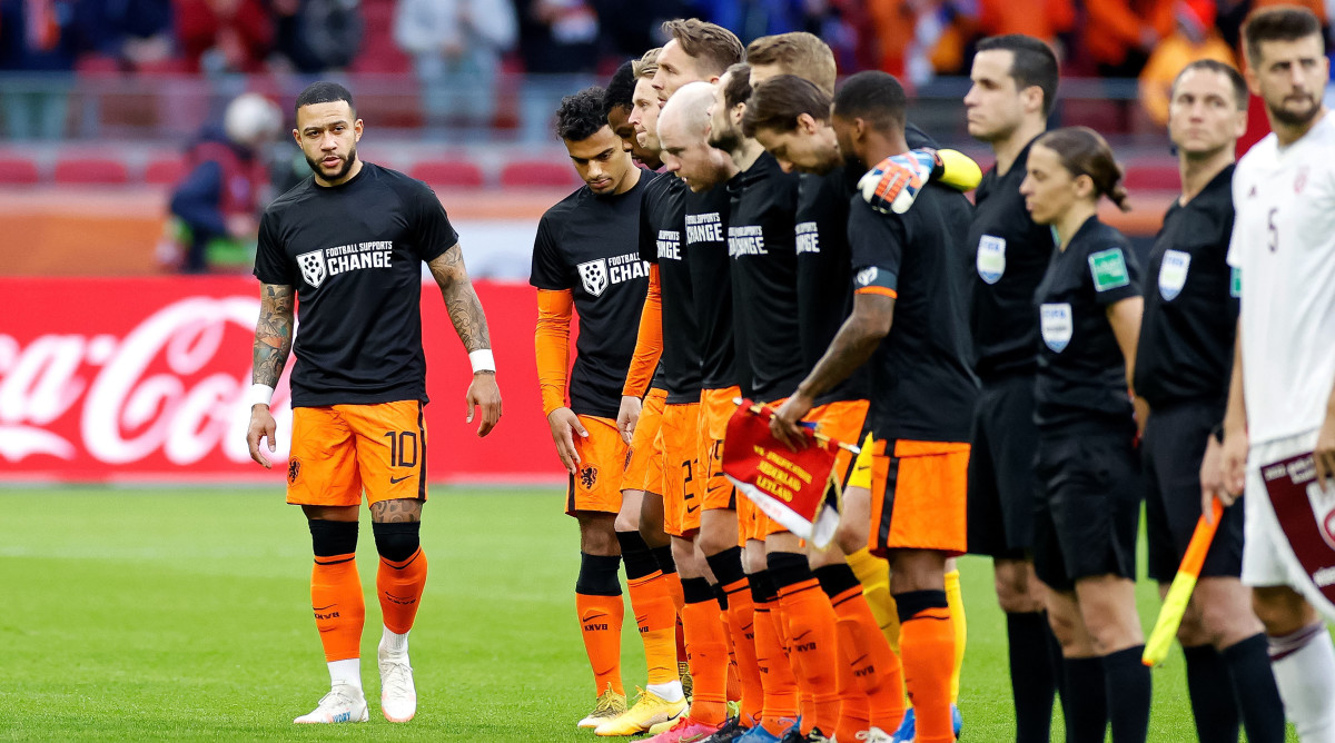 Dutch national team before Latvia match.