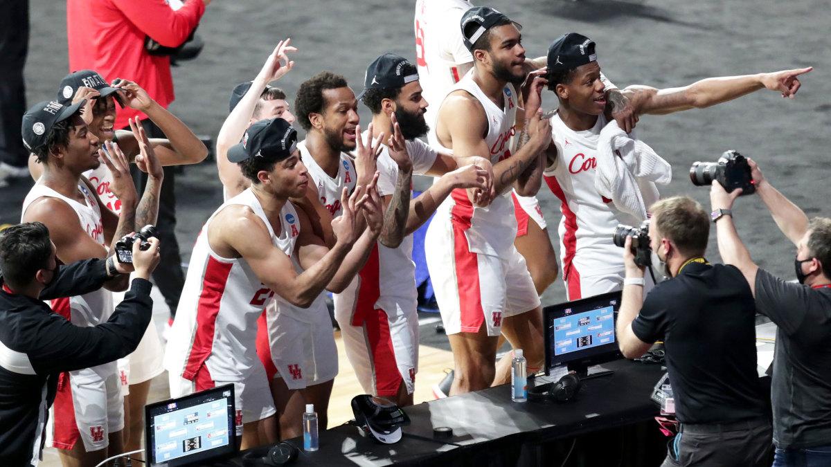 Houston celebrates its Final Four berth