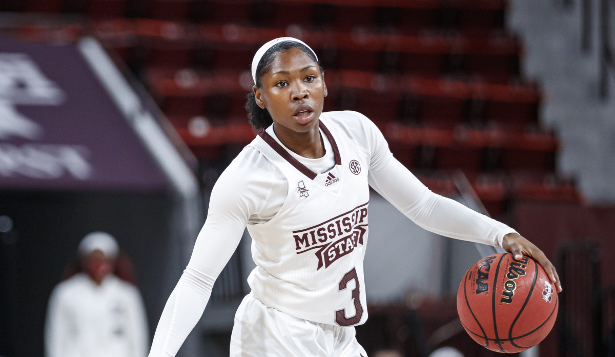 Aliyah Matharu has entered the NCAA transfer portal. (Photo courtesy of Mississippi State athletics)