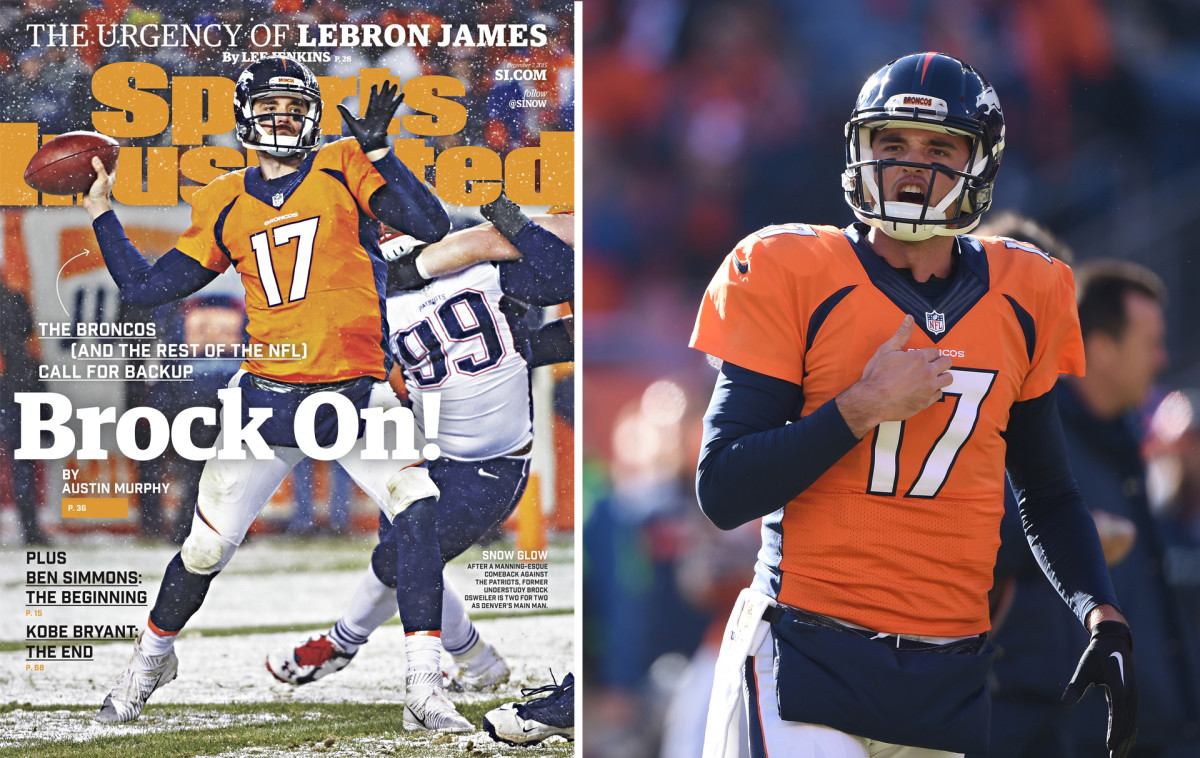 Brock Osweiler Sports Illustrated cover, Broncos 2015 Super Bowl season