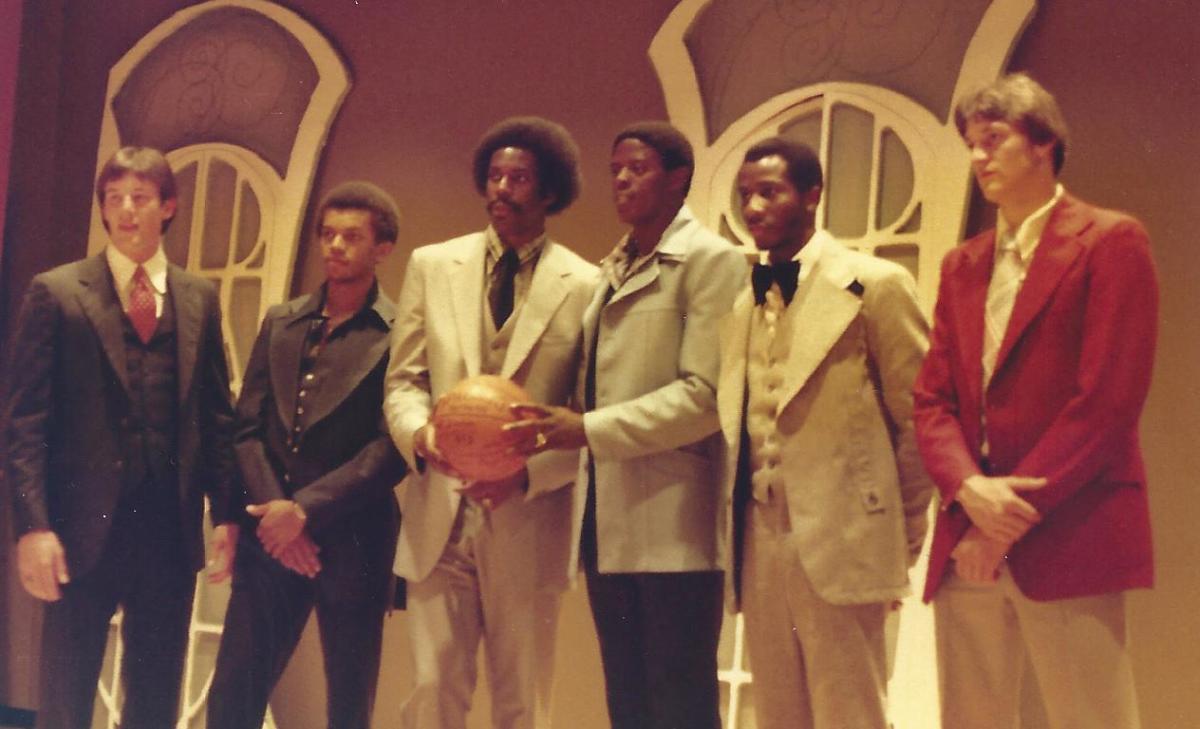 Teammates Greg McElveen, Robert Scott, Reggie King, Richie Hood, Leroy Russel and Joe Hancock. Photo by Jimmy Bank