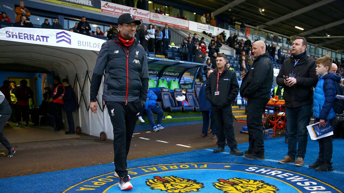 Liverpool manager Jurgen Klopp won't coach in the FA Cup replay vs. Shrewsbury