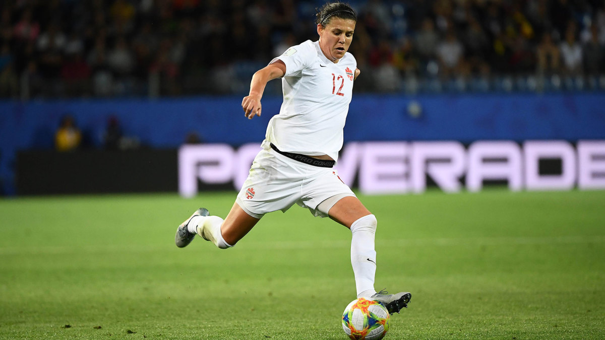 Christine Sinclair has the most goals in the history of international soccer