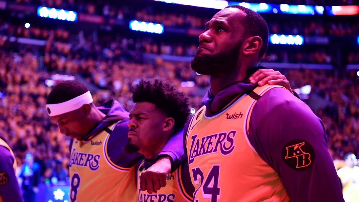 LeBron Addresses Staples Center Crowd in Lakers' First Game Since Kobe's Death