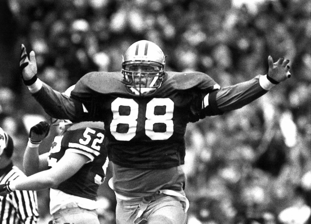 Mike Ewaliko was a disruptive force on the UW defensive line through 1995.