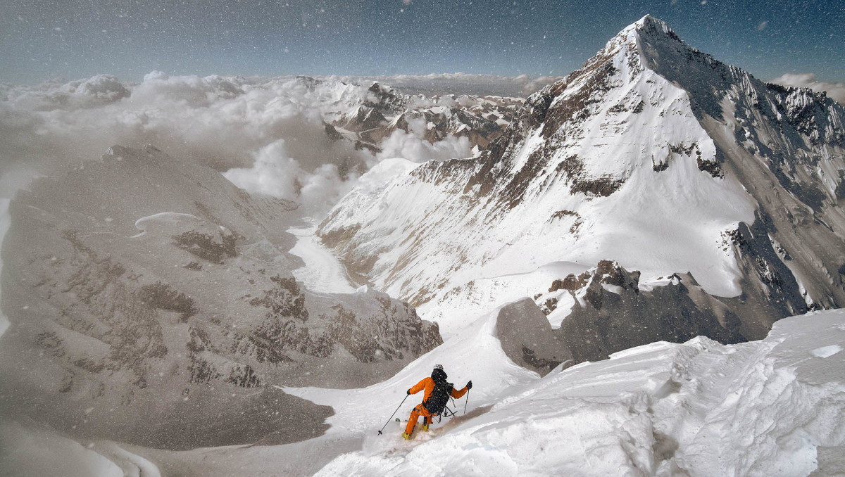 After climbing for 28 days, Morrison skied the line that had to that point been unconquerable.