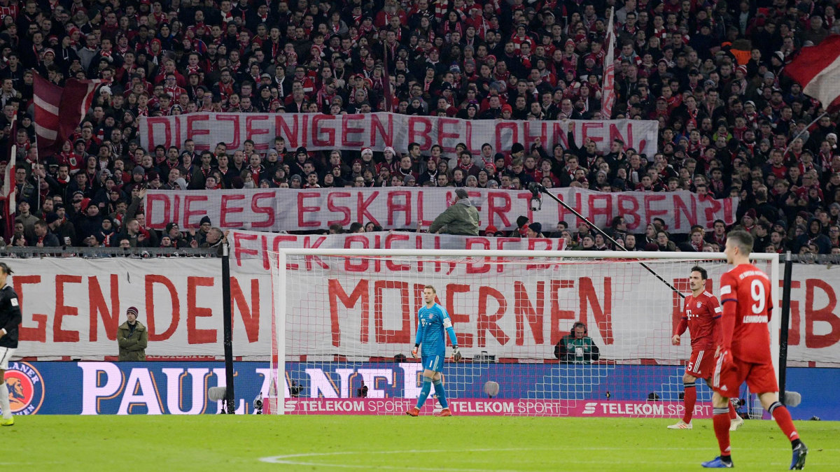 Bayern Munich fans criticize the existence of RB Leipzig