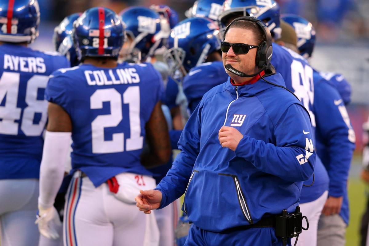 Nov 19, 2017; East Rutherford, NJ, USA; New York Giants head coach Ben McAdoo before the start of overtime against the Kansas City Chiefs at MetLife Stadium.