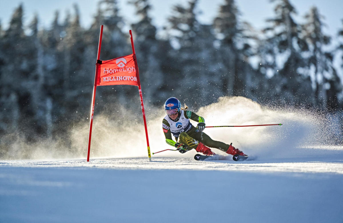 Shiffrin took third in the giant slalom at Killington in November, one of her 13 podiums this season.Photograph by Erick W. Rasco